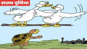 www.gajabdunia.com The Turtle that fell off the Stick Panchatantra Hindi Story